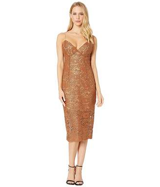 Bardot Golden Lace Dress