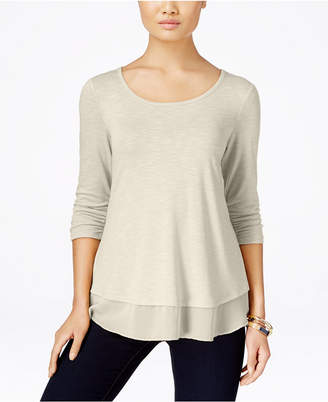 Style & Co Chiffon-Hem Top, Created for Macy's $34.50 thestylecure.com