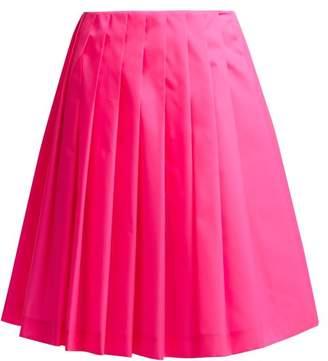 Prada Pleated Gabardine Skirt - Womens - Pink