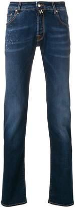 Jacob Cohen splatter details slim-fit jeans