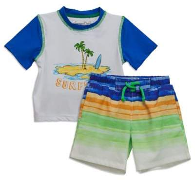 Sovereign CodeTM 2-Piece Surf's Up Rashguard and Swim Trunk Set