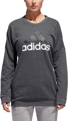 adidas Badge Of Sport Crew Neck Long Sleeve Sweatshirt