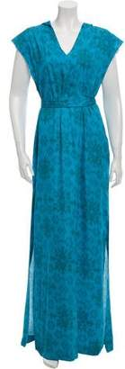 Baja East Printed Maxi Dress