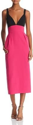 Jill Stuart Color-Block Midi Dress