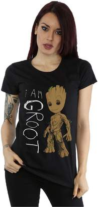Marvel Women's Guardians of the Galaxy I Am Groot Scribbles T-Shirt