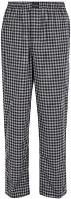 Balenciaga Checked cotton trousers