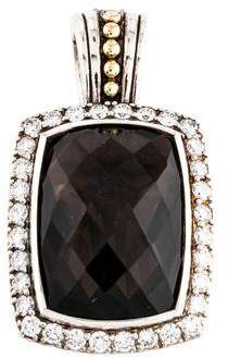 Lagos Smoky Quartz & Diamond Pendant