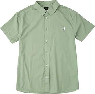RVCA Men's Stress Short Sleeve Woven Shirt