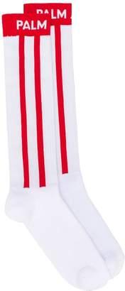 Palm Angels Palm intarsia striped socks