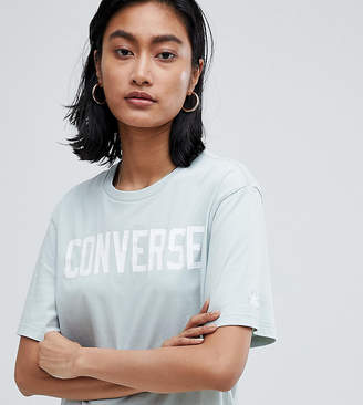 Converse Essentials Logo Tshirt In Pale Blue