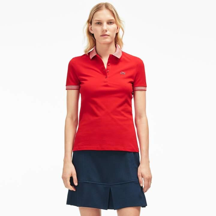 LACOSTE Women's Stretch cotton Polo Shirt