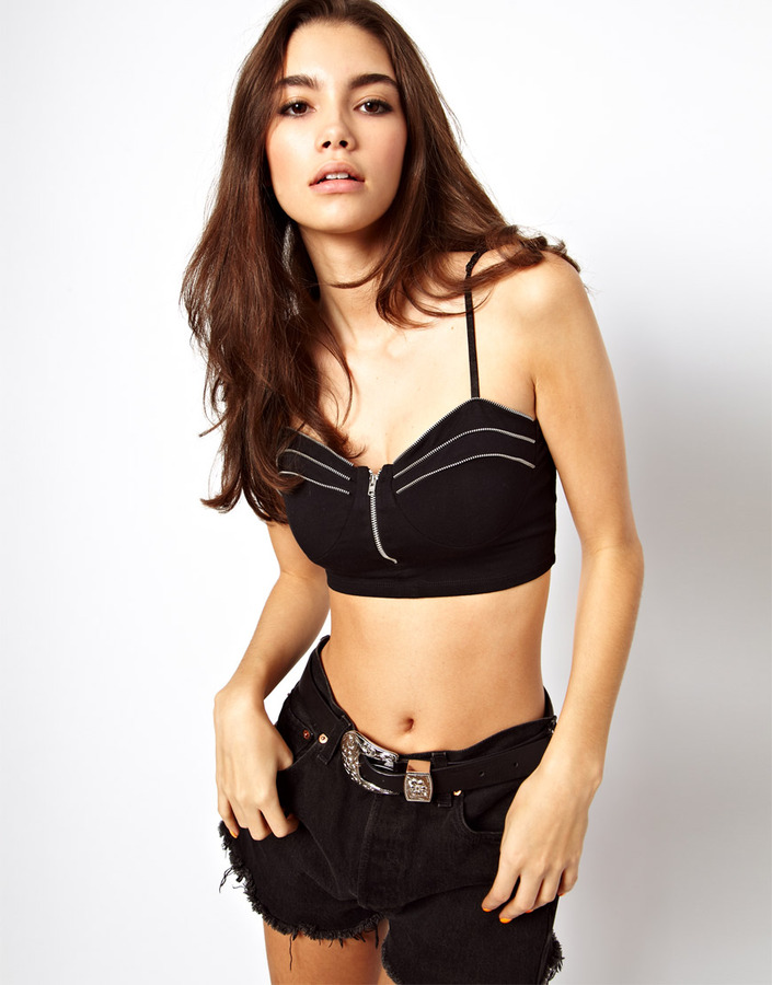 Asos Bralet with Zip Detail