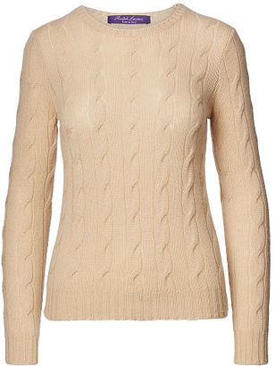 Ralph Lauren Cable-Knit Cashmere Sweater $750 thestylecure.com