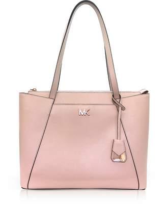 Michael Kors Soft Pink Maddie Medium Crossgrain Leather Tote