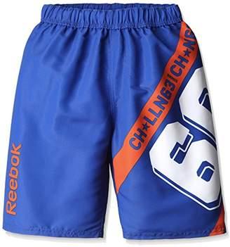 Reebok (リーボック) - (リーボック) Reebok ロゴ柄セミロング丈サーフパンツ 126391 BL ブルー 130