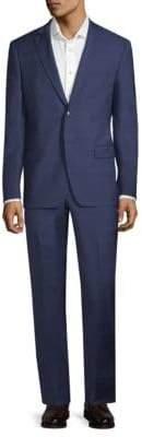 John Varvatos Windowpane Wool Suit