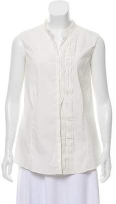 Akris Punto Sleeveless Button-Up Top