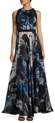 Carmen Marc Valvo Floral Silk Organza Gown $1,295 thestylecure.com