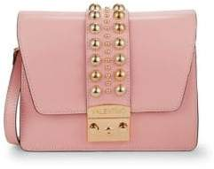 Mario Valentino Studded Leather Crossbody Bag