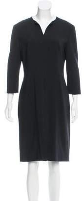 The Row Knee-Length Wool-Blend Dress