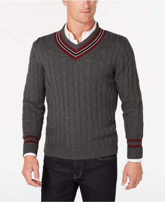 Club Room Men's Cricket V-Neck Sweater