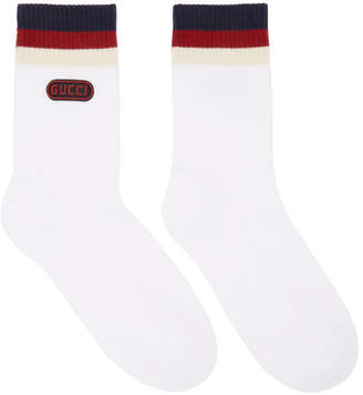 Gucci White Logo Socks