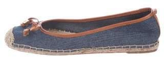 MICHAEL Michael Kors Leather-Trimmed Denim Esparilles
