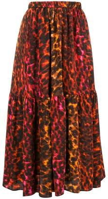 Stella McCartney leopard print maxi skirt