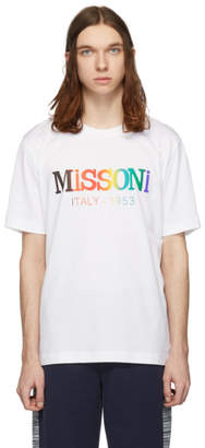 Missoni White Rainbow Logo T-Shirt