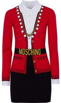 Moschino Intarsia-Knit Cotton Mini Dress