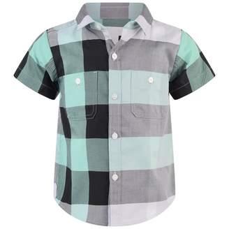 Burberry BurberryBaby Boys Green Check Mini Camber Shirt