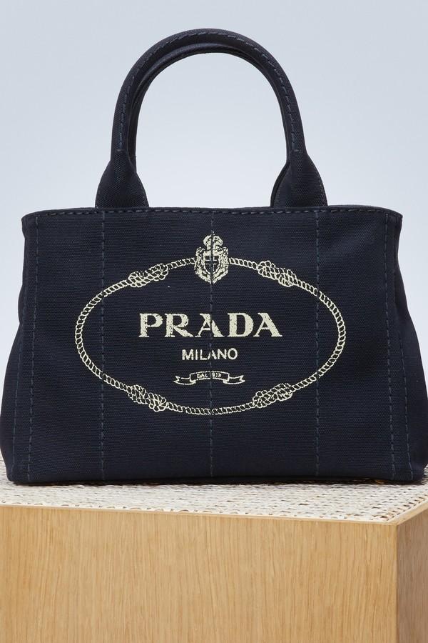 Prada canvas small handbag
