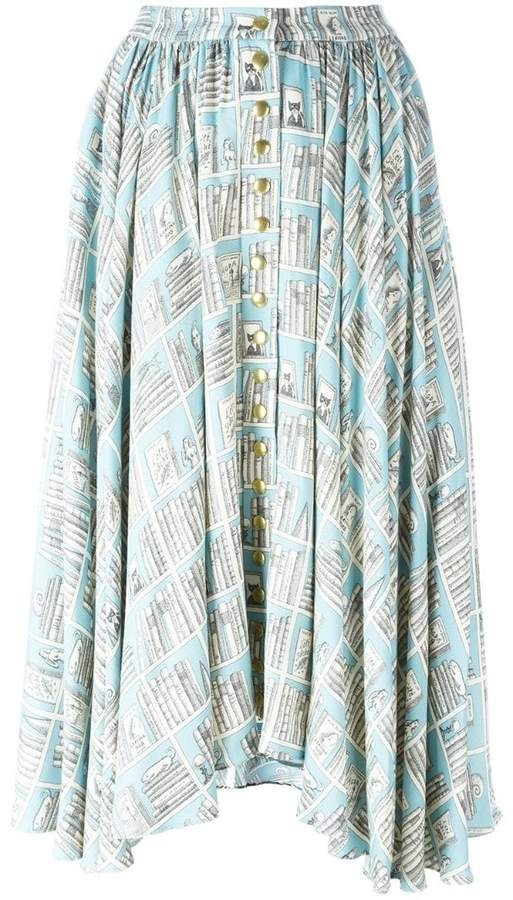 Olympia Le-Tan printed full skirt