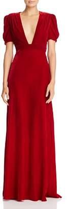 Jill Stuart Plunging Velvet Gown