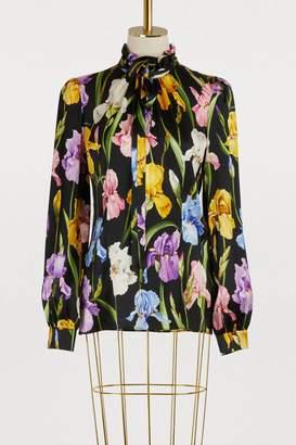 Dolce & Gabbana Iris print silk shirt