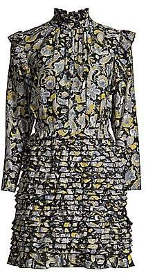 Robert Rodriguez Women's Nikita Cotton& Silk Ruffle Dress - Size 0