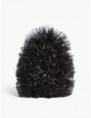 Noir Kei Ninomiya COMME Frilled tulle flowers backpack