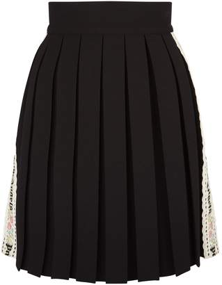 Palm Angels Pleated Mini Skirt