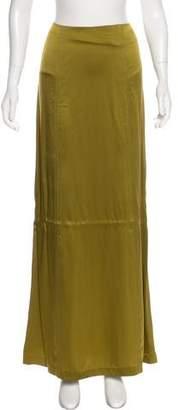 Alberta Ferretti Silk A-Line Skirt