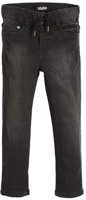 Molo Augustin Black-Wash Denim Jeans, Size 4-10