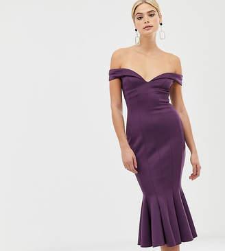 Bardot Asos Tall ASOS DESIGN Tall seamed midi dress