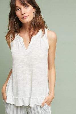 Maeve Poinsot Ruffled-Back Tank Top