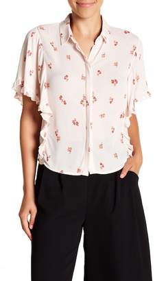 Elodie Ruffle Sleeve Button Down Shirt