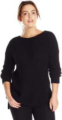 BB Dakota Women's Plus-Size Chealse Chunky Sweater