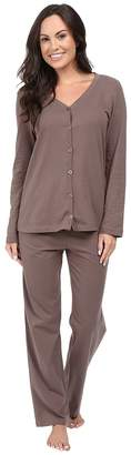 Jockey Two-Piece Cotton Cardigan PJ Set Women's Pajama Sets