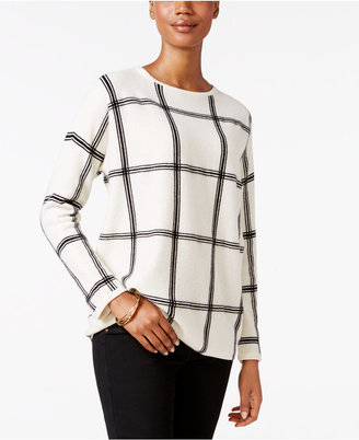 Charter Club Cashmere Windowpane Sweater, Only at Macy's $159 thestylecure.com