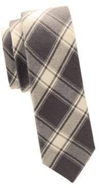 Valentino Plaid Slim Silk Tie