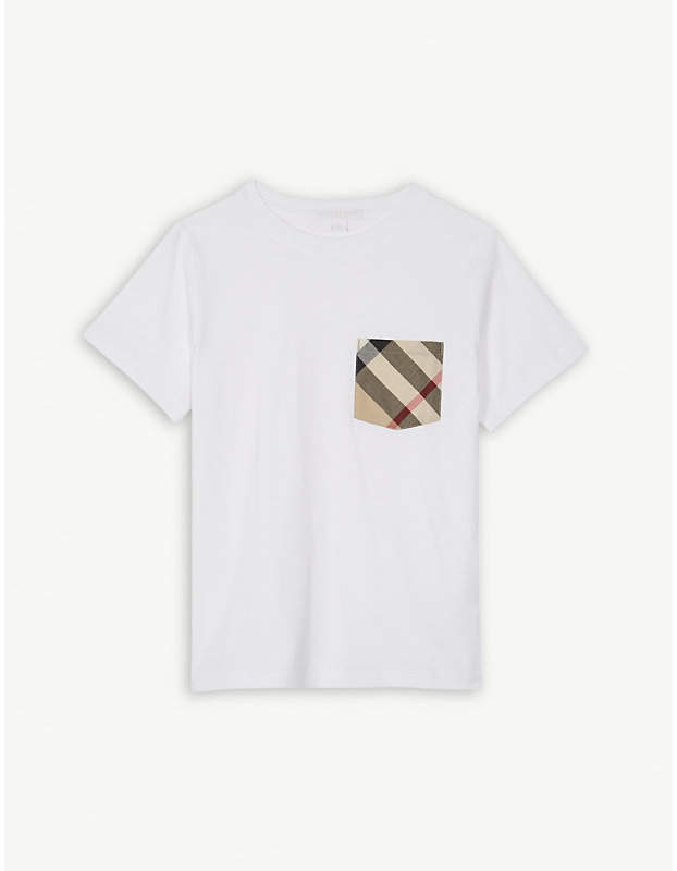 House check cotton T-shirt 4-14 years