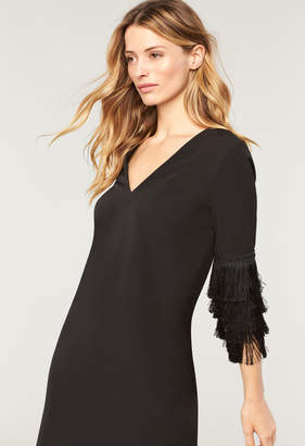 Milly ITALIAN CADY NICOLE FRINGE DRESS