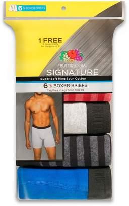 Fruit of the Loom Men's Signature Breathable 5-pack + 1 Bonus Boxer Briefs